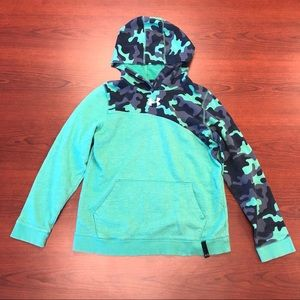 Under Armour green & blue camo hoodie Youth XL
